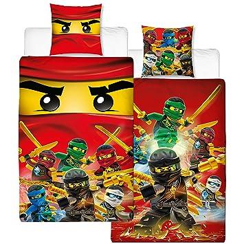 Biber Kinder Wende Bettwäsche Lego Ninjago Champion Fire 135 X 200