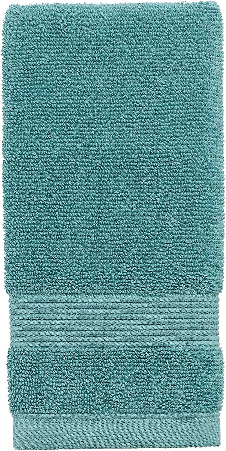 Columbia Quick Dry 90% Cotton/10% Polyester Super Absorbent, Anti-Microbial, Oeko-TEX Certified 6-Piece Bath Towel Value Set. Set Includes: 2 Bath Towels, 2 Hand Towels, 2 Washcloths - Dark Aqua: Home & Kitchen