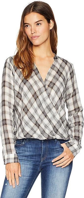 Splendid Surplice - Camisa de Cuadros para Mujer: Amazon.es ...