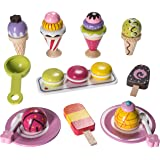 Ice Cream Pretend Playset Made From 100% Real Wood By Dragon Drew (25 PC Set)