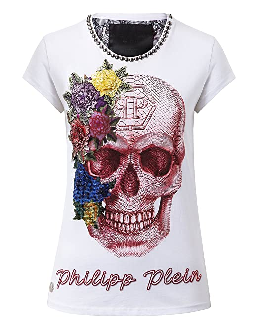 138494f9d8 Philipp Plein t-shirt donna Let Me Dance in cotone bianco (M ...