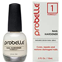 Probelle Nail Hardener Formula 1 - Cures, Repairs and Restores thin, cracked, and peeling nails in weeks