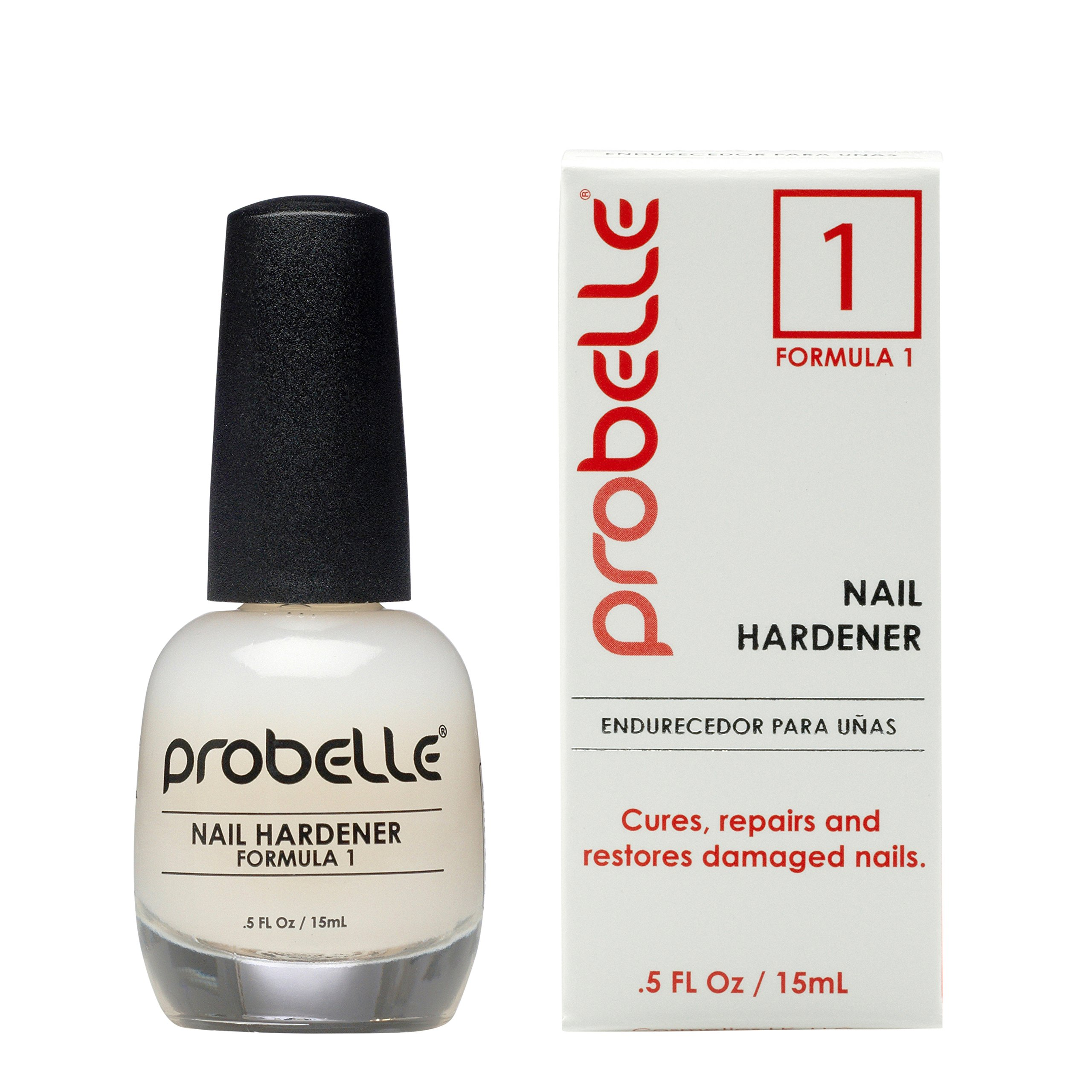 Probelle Nail Hardener Formula 1 - Grows and Restores thin, cracking, and peeling nails .5 fl oz/ 15 mL