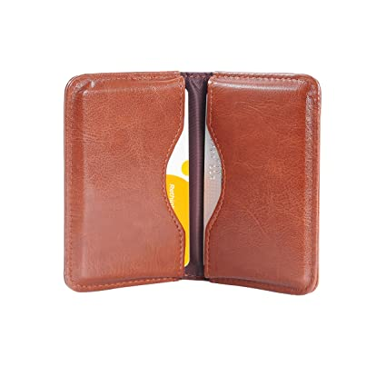 Amazon business card case wisdompro 2 sided pu leather folio business card case wisdompro 2 sided pu leather folio professionl name card holder wallet colourmoves Choice Image