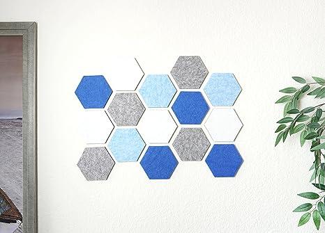 Amazon Com Hexagon Pad Cork Board Pin Board Cool Blue 24 X 18