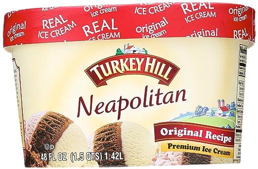 Turkey HIll, Original Recipe Premium Ice Cream, Neapolitan, 48 oz (Frozen)