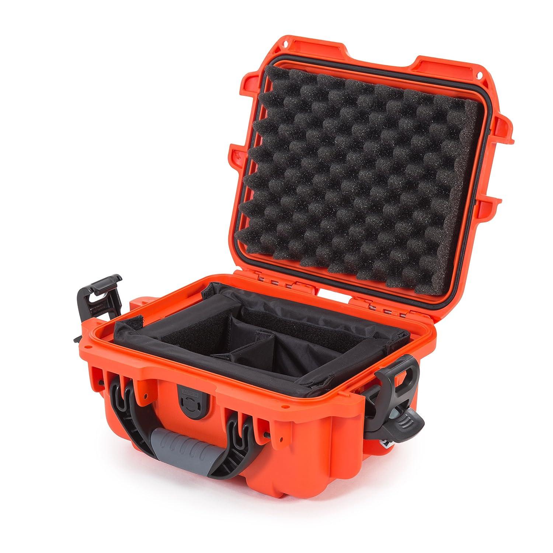 Nanuk 905 Waterproof Hard Case with Padded Dividers - Orange Plasticase Inc 905-2003