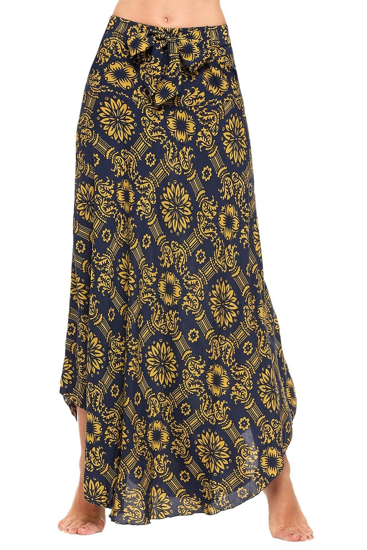 UNibelle Women's Long Floor Bohemian Style Gypsy Boho Hippie Skirts COH010065_NB_XXL