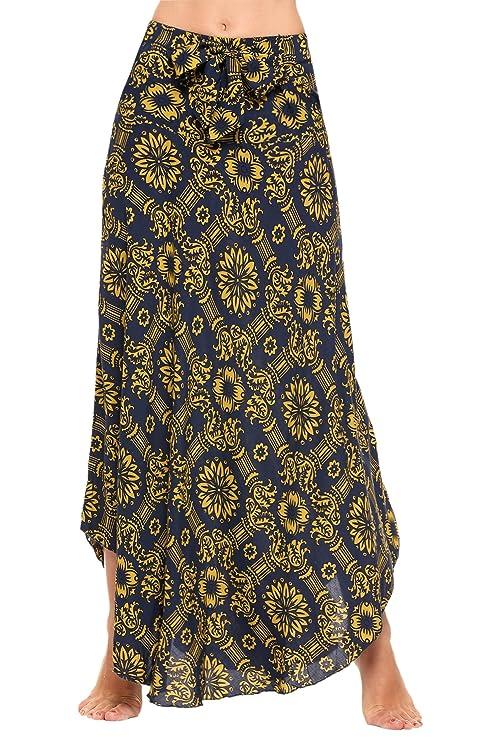 Unibelle Women's Long Floor Bohemian Style Gypsy Boho Hippie Skirts