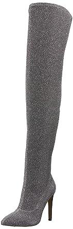 0b6f9b00252 Amazon.com  The Fix Women s Mia Pointed-Toe Thigh-High Sock Boot ...