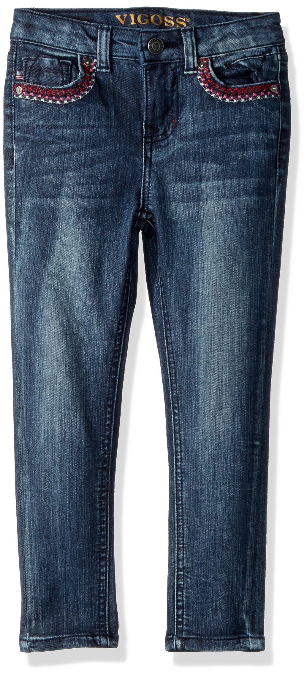 VIGOSS Girls' Big Back Pocket Jean, Memphis-439, 8