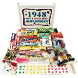 Woodstock Candy 1948 70th Birthday Gift Box - Nostalgic Retro Candy Mix for 70 Year Old Man or Woman Jr