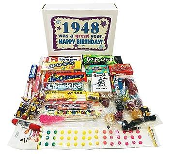 Woodstock Candy 1948 70th Birthday Gift Box Nostalgic Retro Mix For 70 Year Old