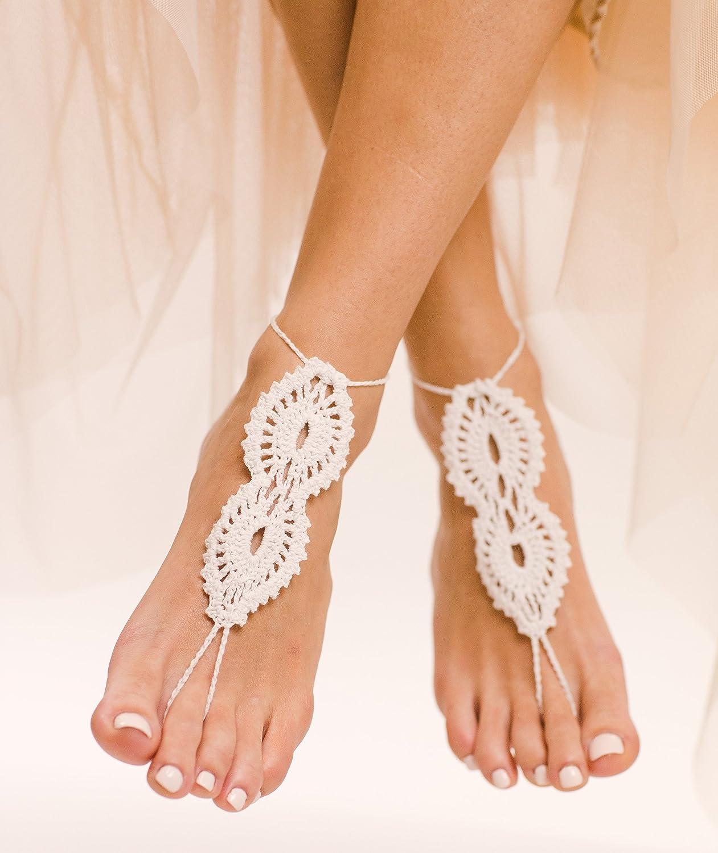 93ff1e63f209c Amazon.com: Maya Crochet Barefoot Sandals: Handmade