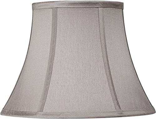 Pewter Gray Bell Lamp Shade 7x12x9 Spider – Springcrest