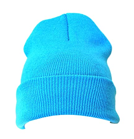 4619358b603d 20 x Baby Blue Warm Winter Unisex Beanie Hats Wholesale  Amazon.co.uk   Kitchen   Home