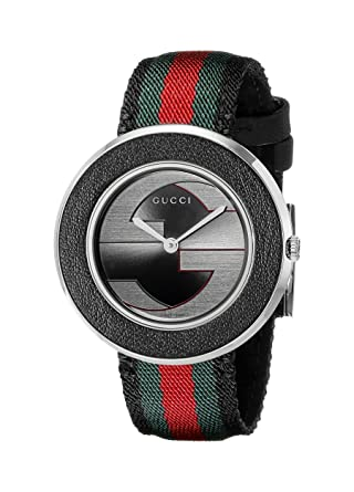 38a71d7a2b7 Image Unavailable. Image not available for. Color  Gucci U Play Collection Stainless  Steel Women s Watch ...