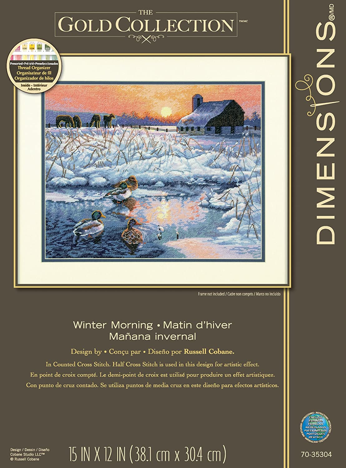 Gold Collection Winter Morning Counted Cross Stitch Kit-15X12