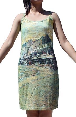 RaanPahMuang Claude Monet Water Lily Pond Spaghetti Strap Dress