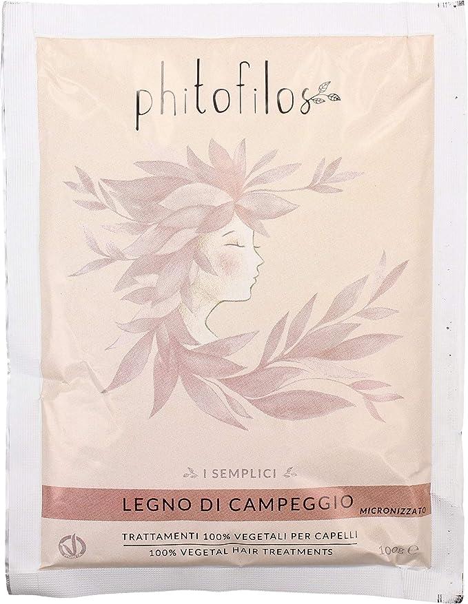 PHITOFILOS - I Semplici - Tinte de palo de Campeche - 100 g. Color rojo cálido. 100% vegetal