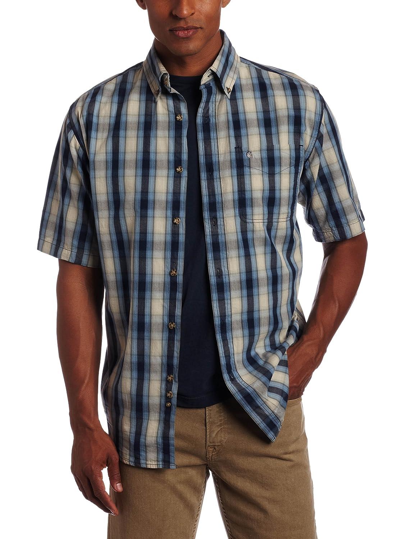 Carhartt Mens Big /& Tall Bellevue Plaid Sheeting Short Sleeve Shirt Button Front