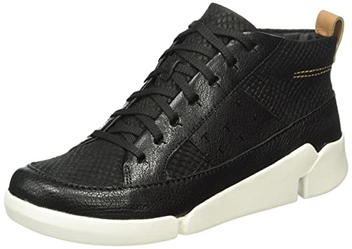 Clarks Tri Abby - Zapatillas para Mujer, Color Negro (Black Leather), Talla 39.5 EU