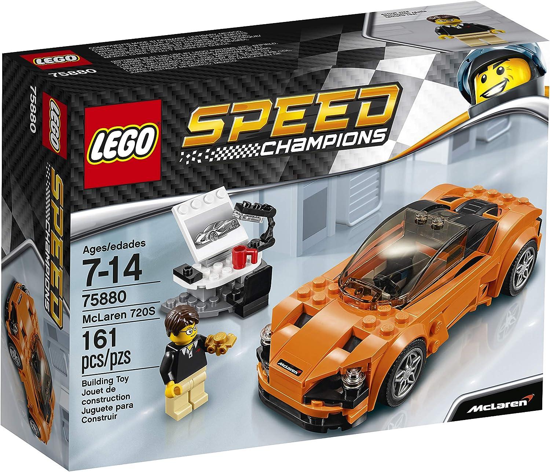 LEGO 75880 Speed Champions McLaren 720S Building Toy, 161pcs, Orange/Black