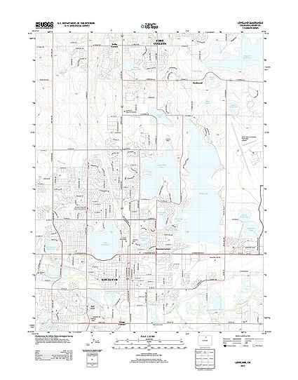Amazon.com: Topographic Map Poster - LOVELAND, CO TNM GEOPDF 7.5X7.5 ...