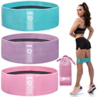 Exercise Resistance Bands for Legs and Butt - 3 Pack Beginner Level, Workout Fabric Non-Slip Gym Equipment Set for Women/Men, Squat Booty Bands for Working Out, Hip Thigh Glute Stretch Fitness Loops