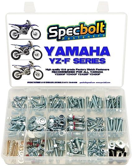 Specbolt Fasteners 250pc Maintenance Restoration OE Spec Motorcycle Bolt  Kit for Yamaha YZF 250 400 426 450
