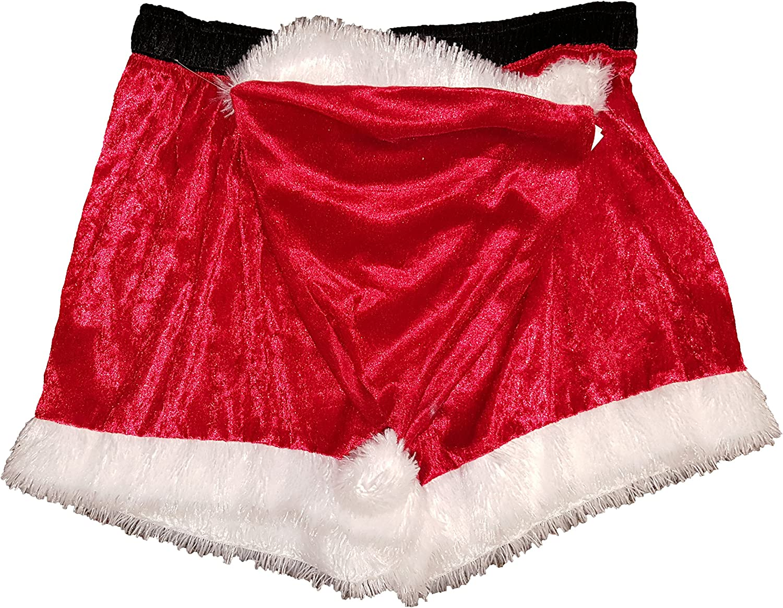 Secret Santa Mens Santa Boxer with Hat