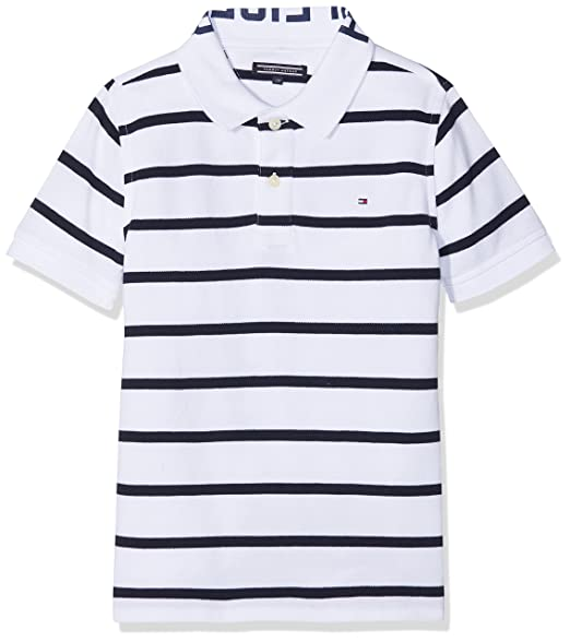 Tommy Hilfiger Ame Yarn Dye Stripe Polo S/s, Blanco (Bright White ...