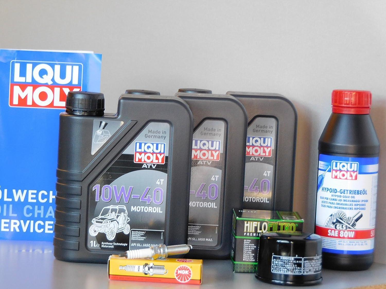 Kit de mantenimiento ATV Quad Yamaha YFM 700 Grizzly Kodiak Inspección Aceite Bujía: Amazon.es: Coche y moto