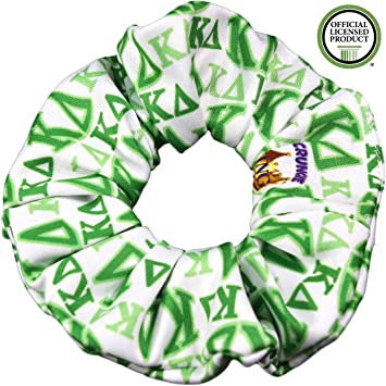 432b8516 Kappa Delta Sorority Scrunchies Officially Licensed Greek Letters Print  Ponytail Holders Scrunchie King Made in the