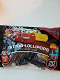 Disney Cars 3 Tattoo Lollipops With Candy Icing 20 Pops 3.52oz Bag