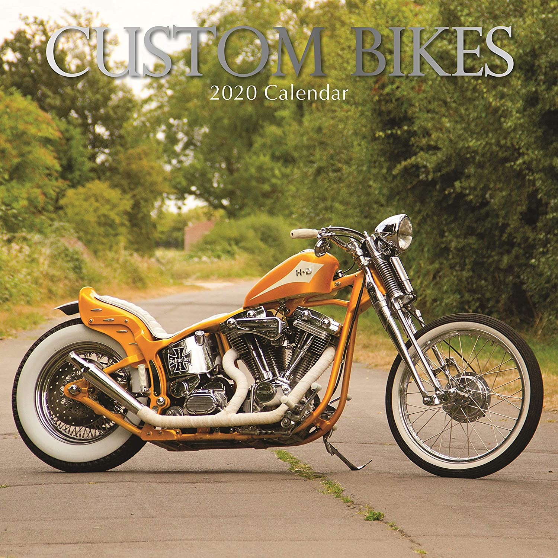 2020 Calendario de pared – Calendario personalizado de bicicletas, 12 x 12 pulgadas vista mensual, 16 meses, tema de grandes motocicletas, incluye 180 pegatinas de recordatorio