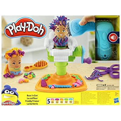 Play-doh Buzz 'n Cut Barber Shop Set [E2930]: Toys & Games
