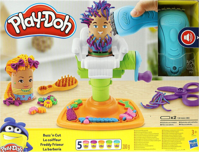 Play Doh Fun Crazy Cuts Hair Grow Salon Chair Retro Pack Fuzzy Pumper Barbershop