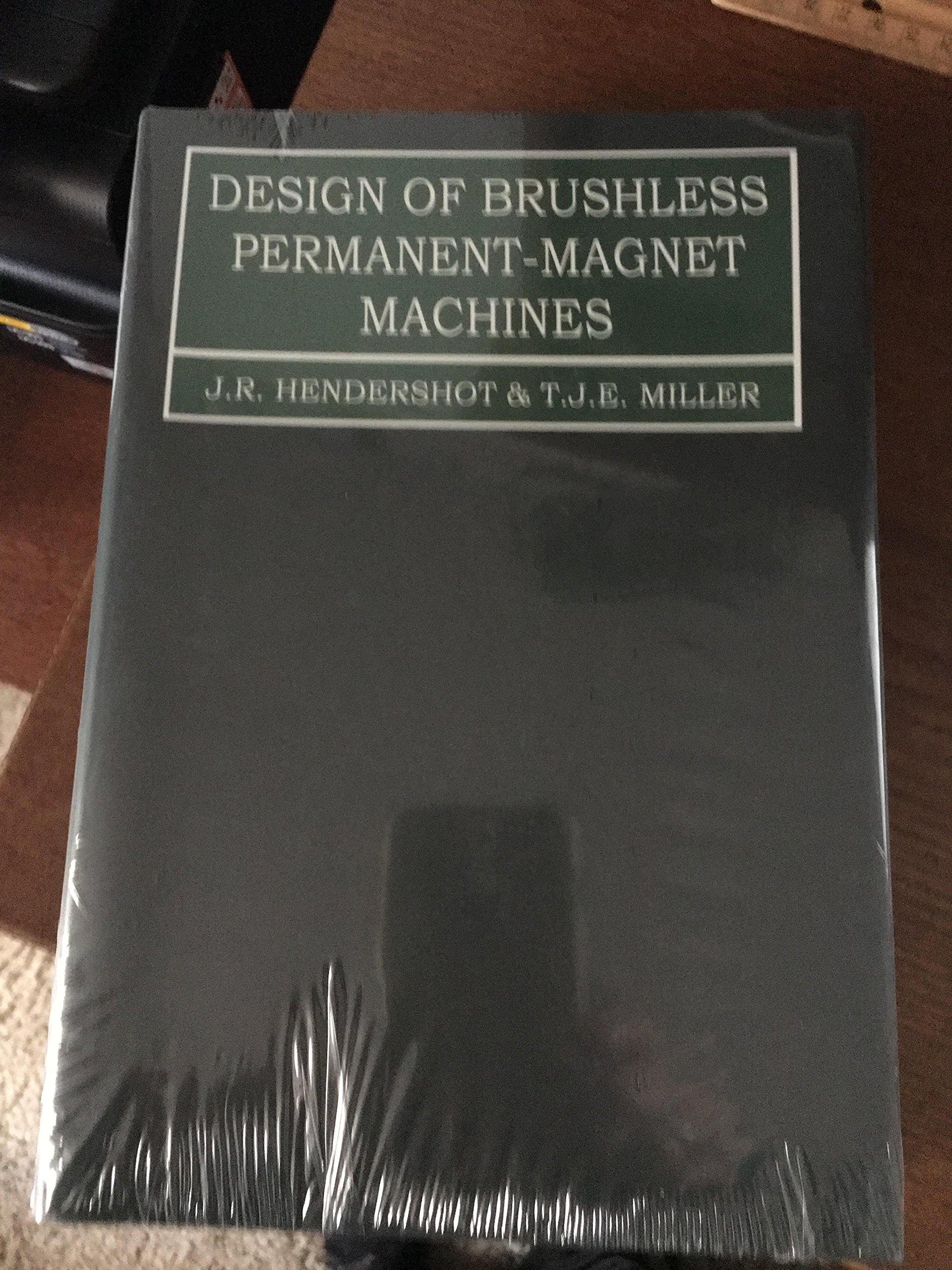 Design of Brushless Permanent-Magnet Machines: J R