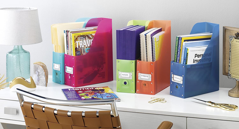 Whitmor Magazine Organizers Set of 5 Multicolor