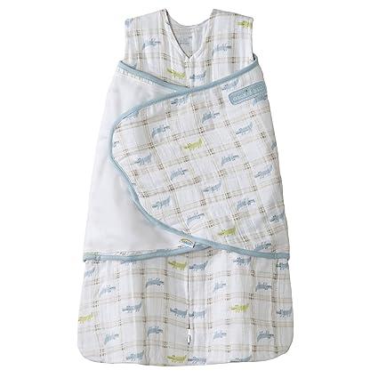 Halo Innovations Sleepsack Swaddle - Saco de dormir 2 en 1 para bebé blanco roto azul