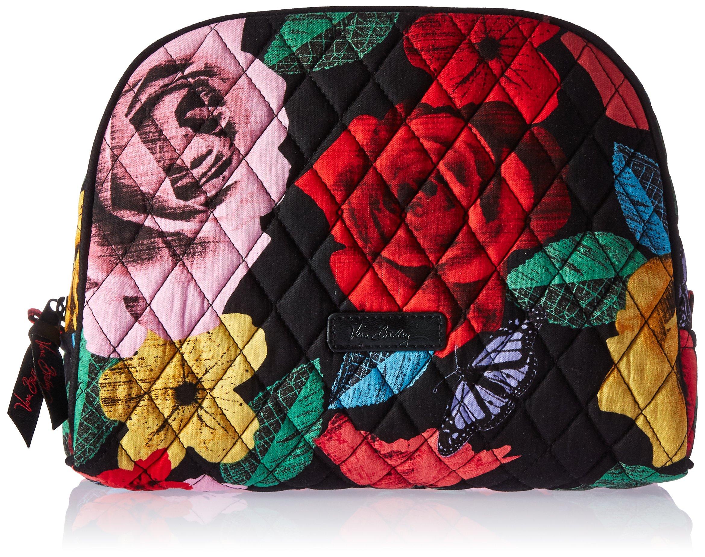 Vera Bradley Large Zip Cosmetic, Havana Rose  ( Pattern May Vary )