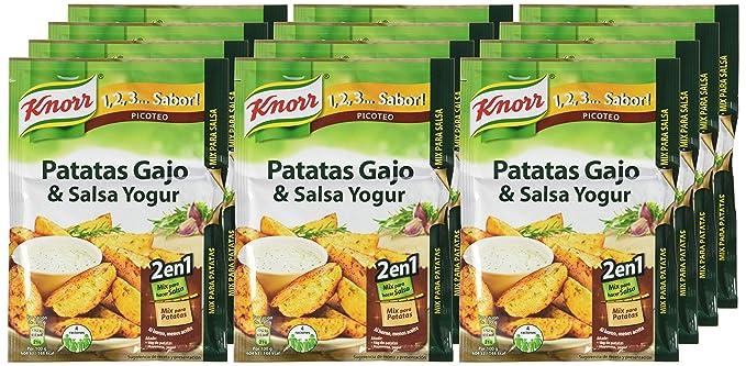 Sabor - Mix para Hacer Patatas Gajo & Salsa Yogur - 47 g - [Pack de 12]: Amazon.es: Alimentación y bebidas