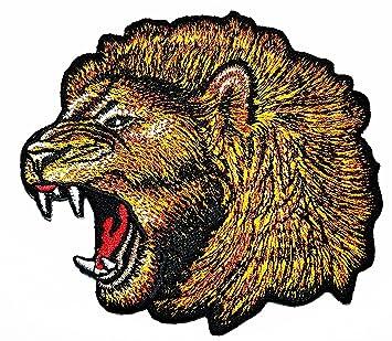 Parche de cabeza de león bordado para coser o planchar, hecho a mano, para coser o planchar: Amazon.es: Hogar