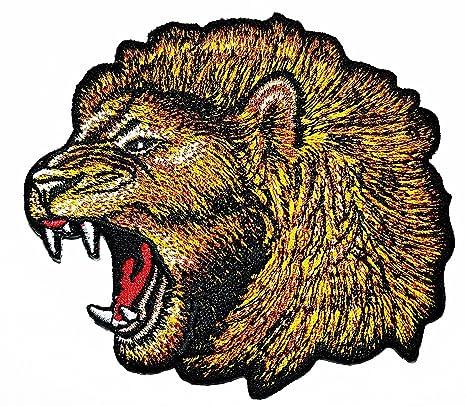 Parche de cabeza de león bordado para coser o planchar, hecho a mano, para. Pasa ...