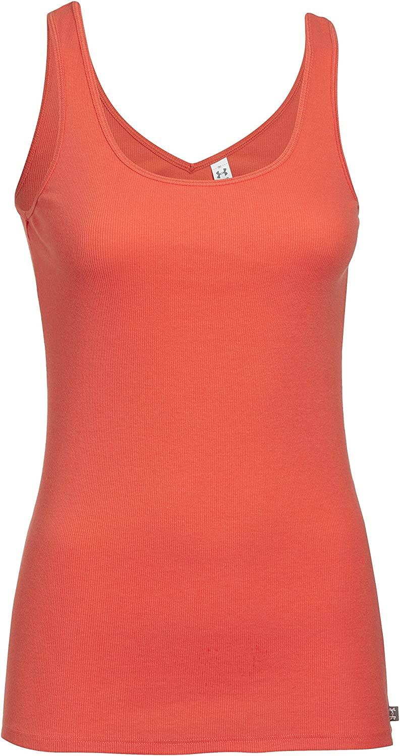 Under Armour Fitness T-Shirt Double Threat Tank - Camiseta sin Mangas de Fitness para Mujer, Color N...