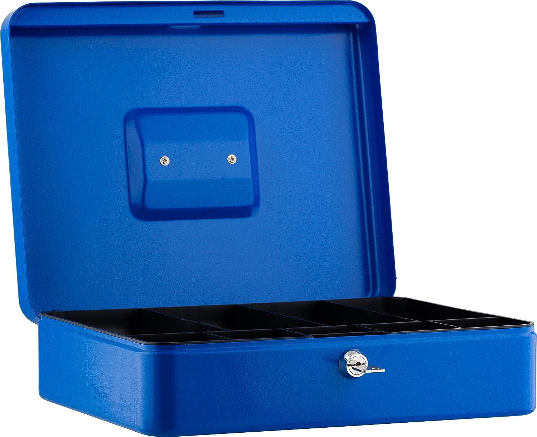 color azul B 25 x H 9 x T 18 cm Caja para dinero Sax
