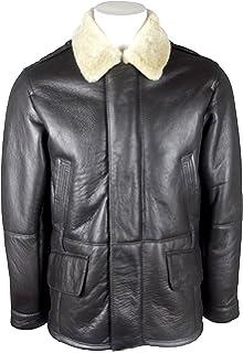 056b0205e6f Unicorn Mens Sheepskin Duffle Coat Brown and Ginger - Real Leather Jacket  #GQ