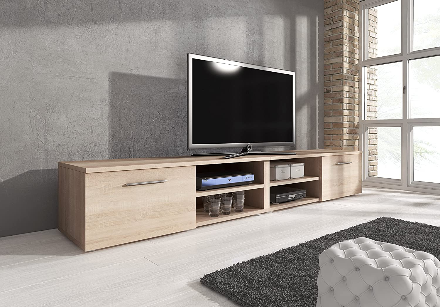 lowboard sonoma eiche top turin tv stand with lowboard sonoma eiche lowboard sonoma eiche with. Black Bedroom Furniture Sets. Home Design Ideas