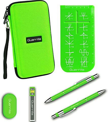 HP50G Graphing Calculators TI-84 Plus Color Edition TI-89 Titanium TI-84 Plus TI-Nspire CX/&CX CAS Pink Guerrillas Essential Calculator Accessory Kit Guerrilla Hard Travel Case for TI-83 Plus